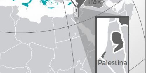 image of a map showing palestine