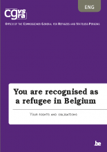 Brochure You are recognised as a refugee in Belgium